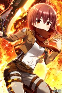Rating: Safe Score: 28 Tags: alternative_girls cosplay shingeki_no_kyojin sword tagme uniform yuuki_miyaka User: saemonnokami