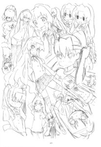 Rating: Safe Score: 4 Tags: aisaka_taiga expression monochrome sato satosute sketch toradora! User: Radioactive