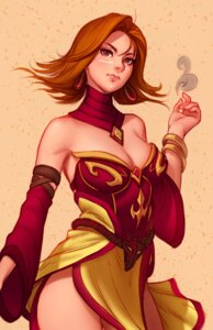 Rating: Safe Score: 25 Tags: cleavage defense_of_the_ancients lina_(dota) User: NotRadioactiveHonest