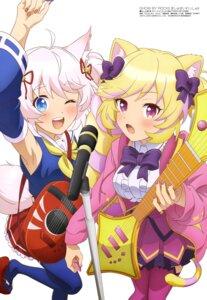Rating: Safe Score: 23 Tags: animal_ears guitar howan kitsune mashima_himeko nekomimi show_by_rock!! show_by_rock!!_mashumairesh!! soramotokan tail thighhighs User: drop