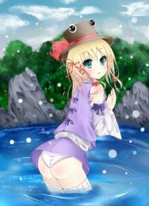 Rating: Questionable Score: 28 Tags: amatsuki_hotaru moriya_suwako pantsu thighhighs touhou User: Nekotsúh