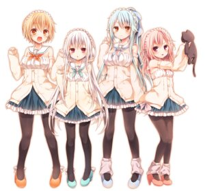 Rating: Safe Score: 79 Tags: cleavage duplicate heels komeshiro_kasu neko pantyhose seifuku User: gibwar