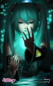 Rating: Safe Score: 21 Tags: hatsune_miku monkey_buonarroti tattoo vocaloid wet User: sylver650