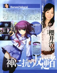 Rating: Safe Score: 9 Tags: angel_beats! gun photo seifuku thighhighs yoshida_moichi yurippe User: acas