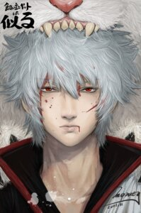 Rating: Questionable Score: 8 Tags: gintama male monkey_buonarroti sadaharu sakata_gintoki User: sylver650