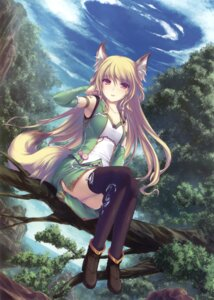 Rating: Safe Score: 90 Tags: animal_ears heels tail tenmaso thighhighs User: Twinsenzw