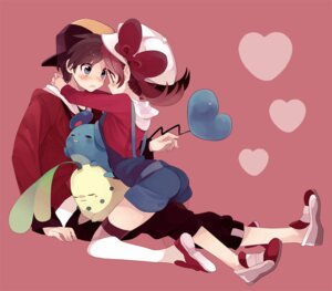 Rating: Safe Score: 29 Tags: amazawa_koma chikorita hibiki_(pokemon) kotone_(pokemon) marill pokemon thighhighs User: Radioactive