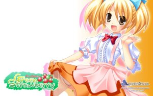 Rating: Safe Score: 14 Tags: detexted green_strawberry loversoul torishimo wallpaper User: fairyren