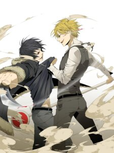 Rating: Safe Score: 5 Tags: blood chikage_(artist) durarara!! heiwajima_shizuo male orihara_izaya User: Radioactive