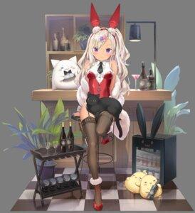 Rating: Safe Score: 27 Tags: animal_ears archerfish_(azur_lane) azur_lane bunny_ears bunny_girl heels manjuu_(azur_lane) neko peco stockings thighhighs transparent_png User: Arsy