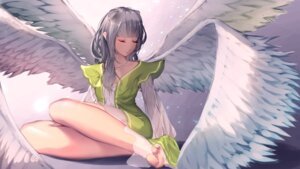 Rating: Safe Score: 63 Tags: dress feet see_through smile_(qd4nsvik) wallpaper wings User: LolitaJoy