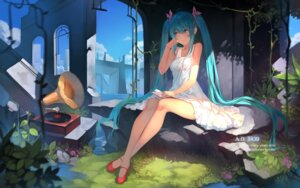 Rating: Safe Score: 59 Tags: dress hatsune_miku summer_dress vocaloid yykuaixian User: Mr_GT