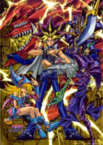 Rating: Safe Score: 17 Tags: armor buster_blader cleavage dark_magician dark_magician_girl monster osiris_the_sky_dragon sword yami_yuugi yugioh User: vistaspl