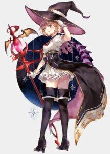 Rating: Safe Score: 65 Tags: djeeta_(granblue_fantasy) granblue_fantasy heels hinahino seifuku thighhighs weapon witch User: hiroimo2