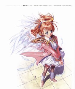 Rating: Safe Score: 3 Tags: amamiya_yuu angel angelium seifuku terios thighhighs wings yokota_mamoru User: Radioactive