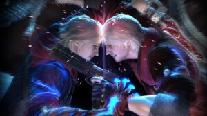 Rating: Safe Score: 10 Tags: dante devil_may_cry male nero wallpaper User: Chaosmage