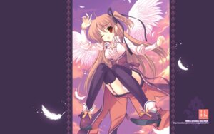 Rating: Questionable Score: 22 Tags: indico_lite mitha pantsu thighhighs wallpaper wings User: androgyne