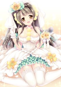 Rating: Questionable Score: 87 Tags: dress love_live! minami_kotori sakurano_ruu stockings thighhighs wedding_dress User: blooregardo