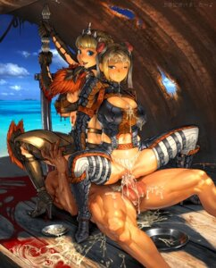Rating: Explicit Score: 172 Tags: blood cum extreme_content guro monster_hunter penis pussy sex uncensored urakanda User: lgzsony