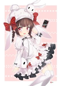 Rating: Questionable Score: 11 Tags: animal_ears bloomers bunny_ears dress girls_frontline jjickjjicke m99_(girls_frontline) skirt_lift thighhighs User: sym455