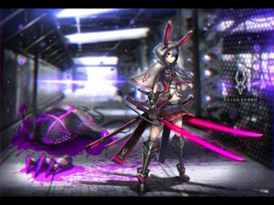 Rating: Safe Score: 26 Tags: animal_ears armor bunny_ears gia monster signed sword User: RyuZU
