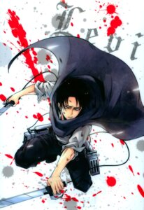 Rating: Safe Score: 19 Tags: blood levi male shingeki_no_kyojin suruga_hikaru sword User: Radioactive