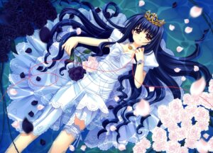 Rating: Safe Score: 33 Tags: cleavage dress garter nishimata_aoi User: fireattack