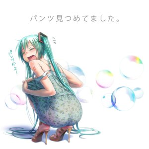 Rating: Questionable Score: 67 Tags: ass dress hatsune_miku heels pantsu see_through summer_dress tattoo vocaloid wokada User: Aneroph