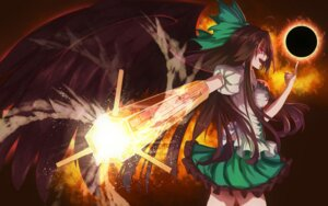 Rating: Questionable Score: 20 Tags: bakanoe reiuji_utsuho touhou weapon User: sylver650