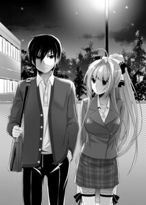 Rating: Questionable Score: 8 Tags: amagi_brilliant_park monochrome nakajima_yuka sento_isuzu User: kiyoe