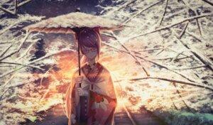 Rating: Safe Score: 14 Tags: gundou_mirei kimono megane nijisanji rai_(newtype_xm-x1) umbrella User: Arsy