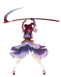 Rating: Safe Score: 30 Tags: cleavage dress onozuka_komachi touhou tsunekun weapon User: itsu-chan