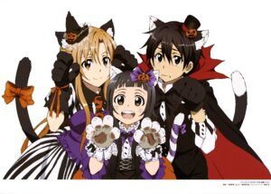 Rating: Safe Score: 30 Tags: animal_ears halloween kawatsuma_tomomi nekomimi sword_art_online tail witch User: drop