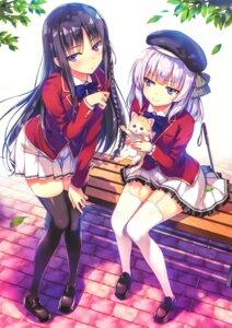 Rating: Safe Score: 98 Tags: horikita_suzune neko possible_duplicate sakayanagi_arisu stockings thighhighs tomose_shunsaku youkoso_jitsuryoku_shijou_shugi_no_kyoushitsu_e User: RKO
