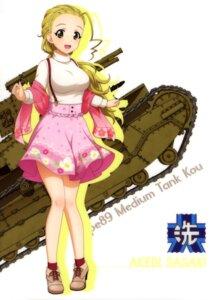Rating: Safe Score: 11 Tags: girls_und_panzer heels sasaki_akebi sweater tagme User: drop