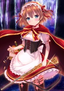 Rating: Safe Score: 38 Tags: dress gun hio_(hiohio0306) little_red_riding_hood_(character) stockings thighhighs User: Mr_GT