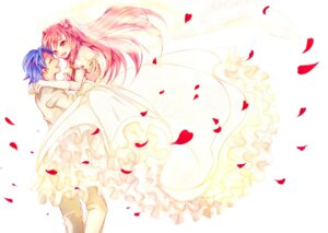 Rating: Safe Score: 6 Tags: angel_beats! dress hinata_(angel_beats!) wedding_dress yatsukiko yui_(angel_beats!) User: charunetra