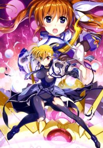 Rating: Safe Score: 22 Tags: armor bodysuit fujima_takuya heterochromia mahou_shoujo_lyrical_nanoha mahou_shoujo_lyrical_nanoha_vivid takamachi_nanoha torn_clothes vivio weapon User: drop