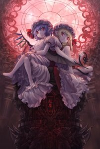 Rating: Safe Score: 13 Tags: flandre_scarlet masakichi remilia_scarlet touhou wings User: konstargirl