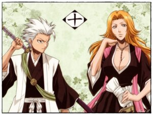 Rating: Safe Score: 14 Tags: bleach cleavage hitsugaya_toushirou kimono matsumoto_rangiku sword tagme wallpaper User: Kyubi