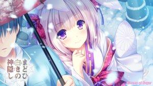 Rating: Safe Score: 14 Tags: animal_ears bunny_ears japanese_clothes lump_of_sugar madohi_shiroki_no_kamikakushi moekibara_fumitake umbrella wallpaper User: bakatori