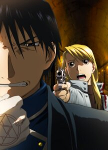 Rating: Safe Score: 18 Tags: fullmetal_alchemist gun riza_hawkeye roy_mustang uniform User: Ryksoft