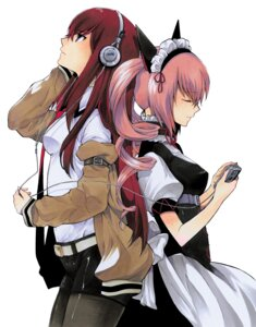 Rating: Safe Score: 45 Tags: faris_nyanyan headphones maid makise_kurisu naruie_shinichiro seifuku steins;gate stockings thighhighs User: demonbane1349