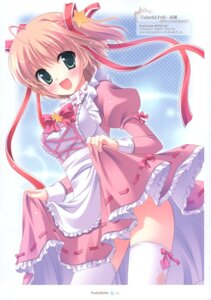 Rating: Questionable Score: 12 Tags: cameltoe maid pantsu peach_candy skirt_lift thighhighs yukie User: Radioactive