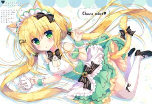 Rating: Safe Score: 51 Tags: ame_to_yuki animal_ears cleavage heels maid tail thighhighs User: kiyoe