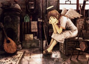 Rating: Safe Score: 21 Tags: abe_yoshitoshi fixme haibane_renmei rakka wings User: Radioactive