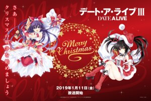 Rating: Safe Score: 20 Tags: armor christmas cleavage date_a_live dress heels heterochromia stockings sword thighhighs tokisaki_kurumi tsunako yatogami_tooka User: kiyoe
