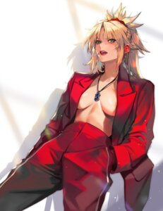Rating: Questionable Score: 5 Tags: fate/grand_order imp_(sksalfl132) mordred_(fate) no_bra open_shirt User: Mr_GT