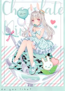 Rating: Safe Score: 42 Tags: animal_ears bunny_ears dress w.label wasabi_(artist) User: Nepcoheart