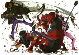 Rating: Safe Score: 9 Tags: eva_02 eva_08 eva_13 eva_mark.09 imaishi_hiroyuki mecha neon_genesis_evangelion weapon User: drop